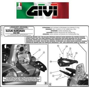 Attacco posteriore specifico PER SUZUKI AN 250-400 Burgman 2003 2004 SR115 GIVI