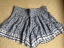 Womens Seed heritage Blue & White Shorts Size 14 BNWOT Cotton/Viscose