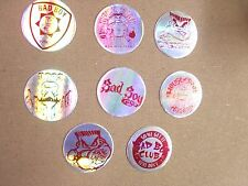 POGS/MILKCAPS BAD BOY CLUB SILVER/RED FOILS SET OF  (8) AWESOME