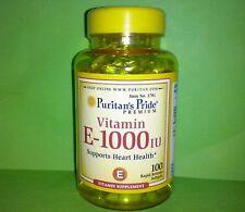 Vitamina E 1000 UI 100 perlas PURITAN´S PRIDE Piel Corazon Sistema Inmune