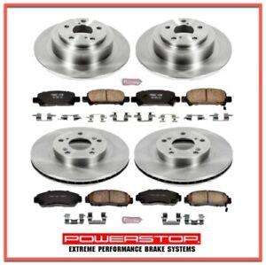 Brake Pad & Rotor/Disc Kit Front & Rear for HONDA Accord 2003 - 07 Ceramic