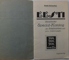 1932 Estonia Estland Stamp Special Cataloque by Ewald Eichenthal