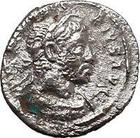 ELAGABALUS  sacrificing over altar 222AD Ancient Silver Roman Coin i43321