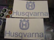 Husky Husqvarna tank decals Logo Blue 125 & 450 style @ Vintage Race Bikes