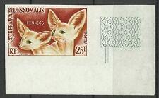 COTE DES SOMALIS FENNEC FOX VULPES ZERDA FAUNE NON DENTELE IMPERF ESSAY ** 1962