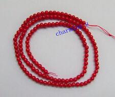 1 filo di perline 120pz in corallo rosso tondo 3mm bijoux