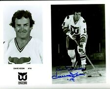 Autographed DAVE KEON HOF Hartford Whalers 8x10 photo