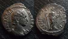 Very scarce Roman Julia Mamaea Denarius, Venus standing Holding cupid