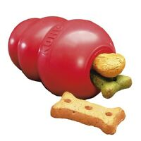 Classic Kong Rubber Red Dog Toy - Small Medium Large XL XXL