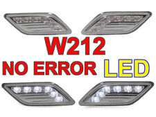 White LED Clear Bumper Side Marker Light For 2010-2013 Mercedes W212 4D Sedan
