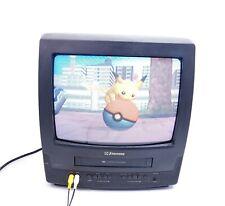 "Vintage Emerson EWC1303 13"" Retro Gaming TV VCR Combo CRT Television No Remote"
