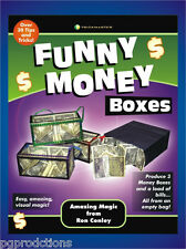 FUNNY MONEY DREAM BOXES BAG Clear Box Spring Production Bills Magic Flower Paper
