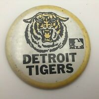"Vintage 3-1/2"" Detroit Tigers MLB Pin Pinback Button Baseball Faded Original N1"