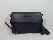 NWT Tory Burch Black Pebbled Leather Thea Messenger/Cross Body $435