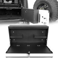 STEEL Foldable Tailgate Table Storage Lock Box w/ key for 07-18 Jeep Wrangler JK