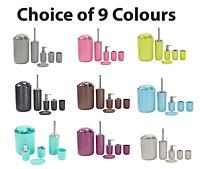 6pc Bathroom Accessories Set Lotion Dispenser Soap Tray Dish Holder Tumbler Bin