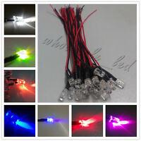 20PCS LED Lamp Light Bulb 18cm Pre Wired 5mm 24V DC Emitting Diode Super-Bright