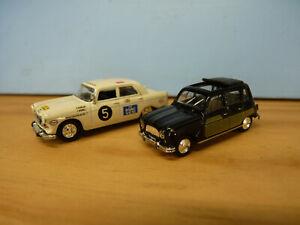 Universal Hobbies / Norev HO 1/87 lot de Peugeot 404 Rallye + Renaul 4L métal