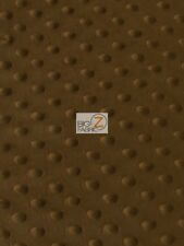 """DIMPLE DOT MINKY FABRIC - Brown - 60"""" SEW-SOFT BABY FABRIC RAISED CHENILLE"""
