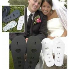 I Love him Flip Flops White Bridal Shower Wedding Gift Size Large 9-10 NEW
