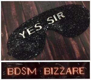 Sexy Leather blindfold bondage kit fetish wear role play sexy eye mask
