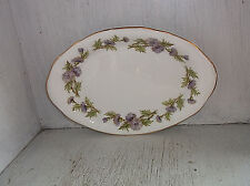 "Paragon English Bone China HIGHLAND QUEEN Relish Tray 8 1/2"" Thistle"