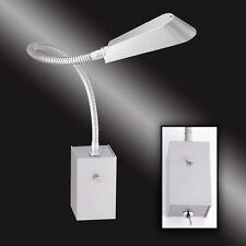 luce lampada da parete LED con braccio flessibile Interruttore scrivania lettura