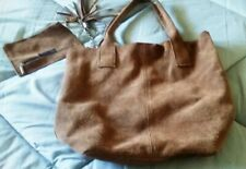 FLORENCEBAGS BROWN LEATHER TOTE BAG - MADE IN ITALY