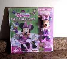 Disney Minnie Mouse Bow-tique Take-Along Tunes Book With Music Player Sealed New