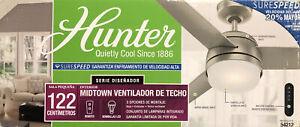 "Hunter Midtown 48 LED Midtown 48"" 3 Blade LED Ceiling Fan - Nickel"