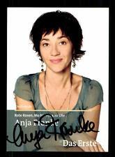 Anja Frank Rote Rosen Autogrammkarte Original Signiert # BC 96906