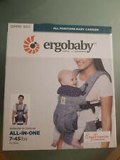 Ergobaby Omni 360 Jacks Baby Carrier Newborn to Toddler 7-45 lbs - Grey / Navy