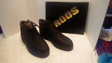 KangaRoos  Boots Mens Sz 10 oil Resistant Brown leather low cut