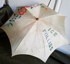 ICE FOLLIES SOUVENIR PARASOL MADE IN JAPAN. VINTAGE ANTIQUE COLLECTIBLE