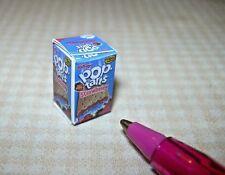 Miniature Strawberry Toaster Tarts Box: DOLLHOUSE Miniatures 1/12 Scale