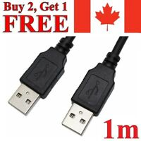 USB to USB Extension Cable 2.0 Male to Male Data Charger Charging Extender