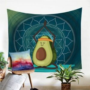 Mandala Avocado Fruit Wall Tapestry Hanging Throw Cover Home Room Decoration