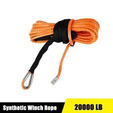 Synthetic Winch Rope Line Cable 516 X 50 20000 Lb Capacity Atv Utv Orange