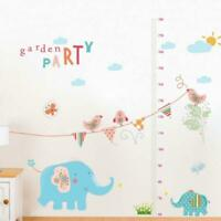 Removable Kids Height Chart Measure Wall Sticker Decal Giraffe Baby Room Decor