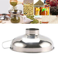 Stainless Steel Canning Funnel, Wide Mouth Jar Funnel w/ Handle kitchen tool