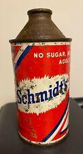 Schmidt Brewing Detroit Cone Top Beer Can IRTP Michigan USBC 2 12-1-T RARE