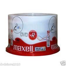50 DVD -R Maxell 120 minuti 4.7GB PRINT Stampabili inkjet +1 cd Verbatim 275701
