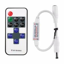Mini LED Controller Dimmer+RF Wireless Remote Control for 5050 3528 LED Strip US