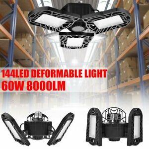 60W LED Garagenleuchte Garage Werkstatt Deckenleuchte Lampe Verformbare Licht