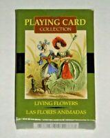 Living Flowers Cards - J.J. Grandville. OOP 54-Card Deck Paris 1800s. MINT w/Bag