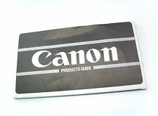 Canon  Products Guide