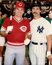 AWESOME PETE ROSE REDS DON MATTINGLY YANKEES ALLTIME BASEBALL GREATS  8x10