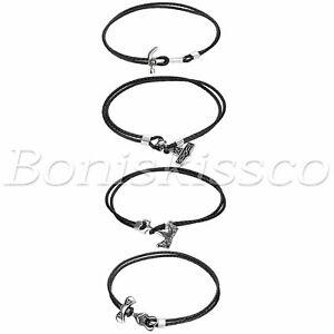 Men's Braided Leather Stainless Steel Skull Hammer Multi-Layer Bangle Bracelet