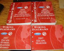 2007 Ford Escape Mariner Hybrid Shop Service Manual Vol 1 & 2 + Wiring Diagrams