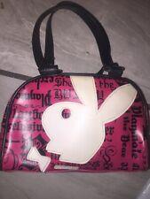 "Playboy Bunny Vintage Pink Bunny ""Bunny's Do It Better"" Logo Sm Duffel  Purse"